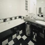 Черно-белая ванная комната (47 фото) – поэтапный подход к созданию классического интерьера