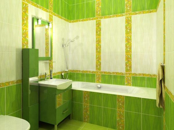 Зеленая ванная комната (44 фото): эко-стиль