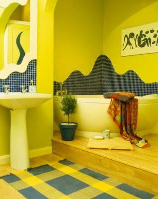 Желтая ванная комната (44 фото): яркий дизайн