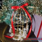 Декоративная птичья клетка на елку: мастер класс с подробностями