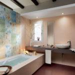 Варианты раскладки плитки в ванной (54 фото): основные способы