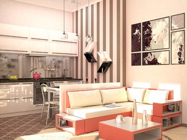 Дизайн маленькой однокомнатной квартиры: идеи для обустройства пространства на30 фото