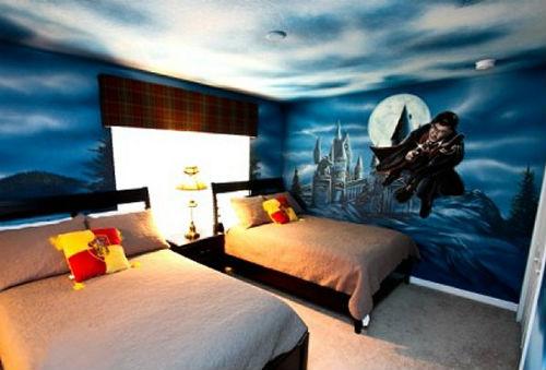 Волшебная комната в стиле Гарри Поттера (много фото)