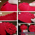 Шкатулка из дисков или декор шкатулки бумажными розами