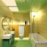 Потолок в ванной комнате из пластиковых панелей (45 фото): «вечный» материал