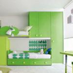 Детская комната в зеленых тонах, то что нужно активным детям