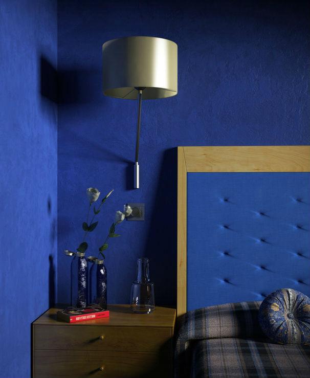 Интерьер синей спальни — мир и спокойствие в одном цвете