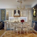 Дизайн гостиной совмещенной с кухней. Более 40 фото
