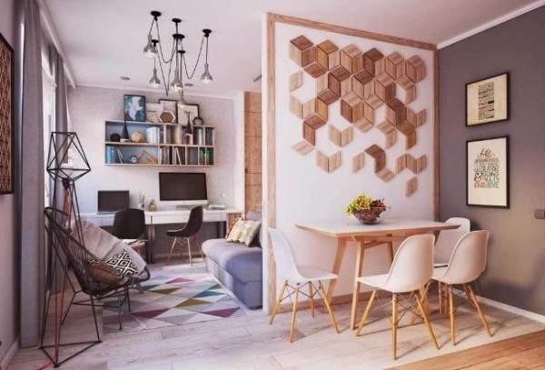 Дизайн квартиры студии 25−40 кв м: современные идеи с35 фото