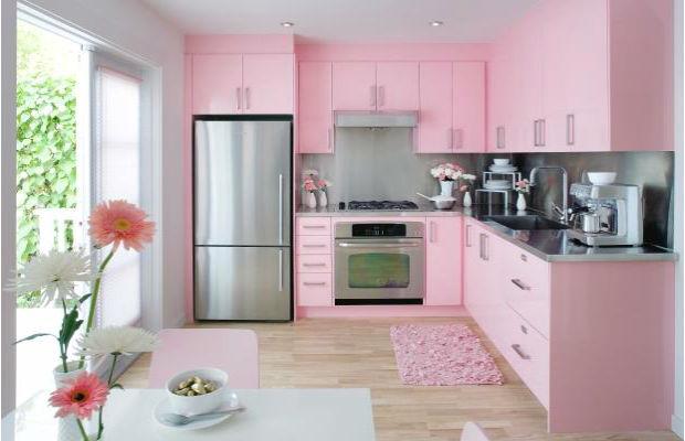Розовая кухня: символически — воздушное пирожное