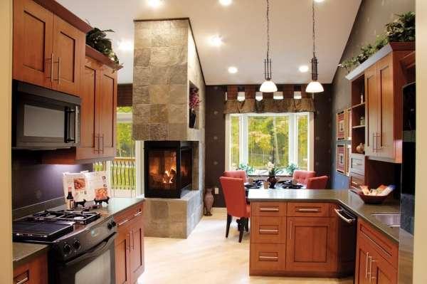 Современный интерьер кухни вчастном доме— новые решения иидеи дизайна
