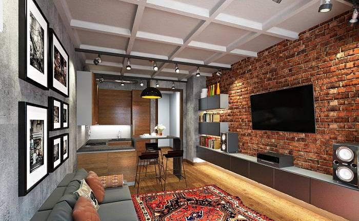 Дизайн интерьера двухкомнатной квартиры: красиво оформляем кухню исанузел