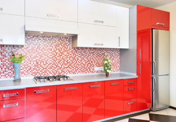 Красная кухня фото 47 оригинальных примеров оформления