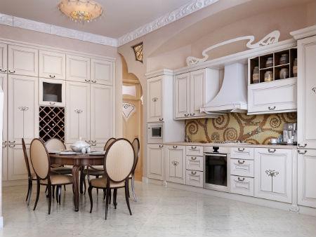 Дизайн белой кухни — белоснежная симфония