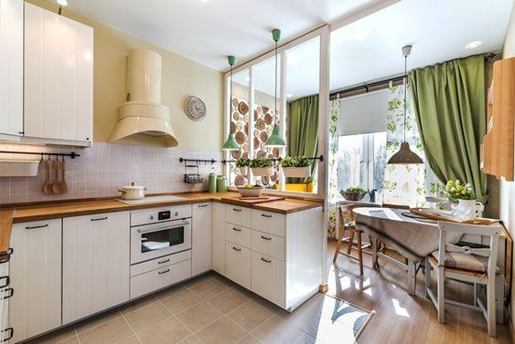 Кухня совмещенная сбалконом— 40 фото объединения пространства