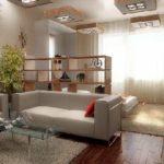Зонирование однокомнатной квартиры— 62 фото удачных идей