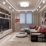 Интерьер гостиной, где мало солнечного света: 69 фото-примеров дизайна