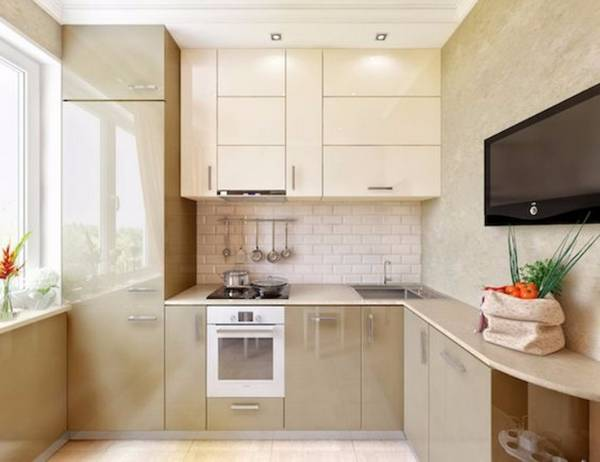 Дизайн маленькой кухни: идеи оформления на45 фото