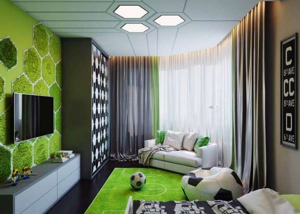 Современный интерьер детской комнаты для мальчиков на30 фото