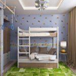 Интерьер детской комнаты для двоих детей— 74 фото стильного оформления