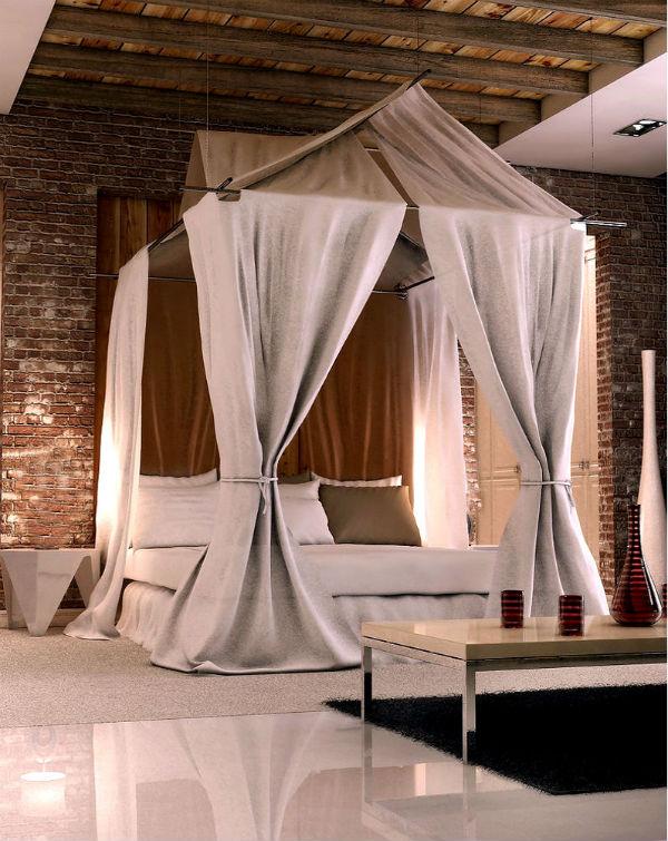 Кирпич в спальне: дизайн — по волнам нашей памяти