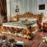 Шикарная спальня в стиле барокко (40 фото)
