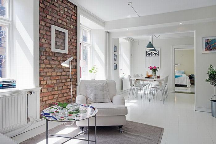 Интерьер квартиры в белых тонах