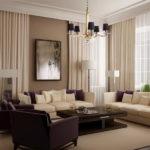 Шторы для комнаты с низкими потолками