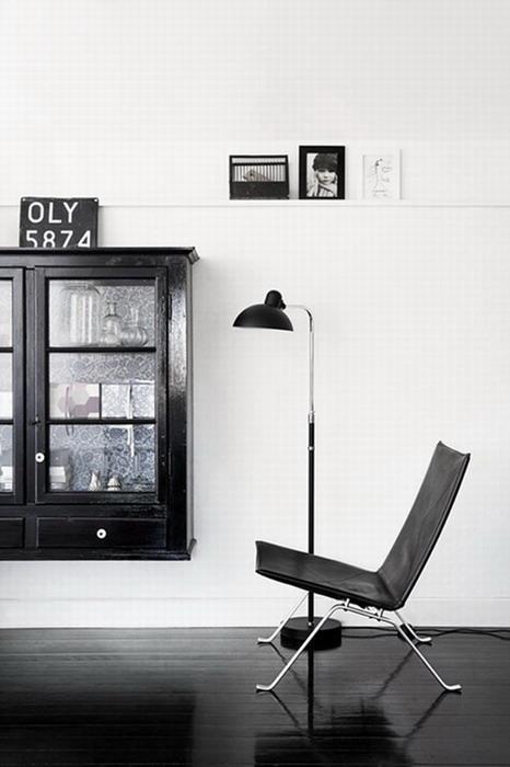 Интерьер в чёрно-белом цвете