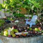Потрясающая идея для участка — мини сад в горшке