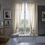 Интерьеры ванной комнаты в сером