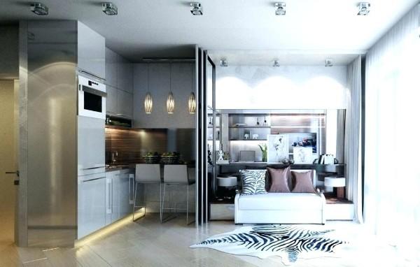 Современный дизайн кухни студии на70 красивых фото