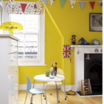 Желтый цвет в интерьере детской