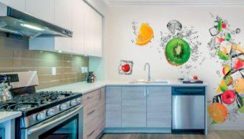 Подбираем современные обои для кухни на70 красивых фото