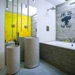 Эклектика в ванной комнате