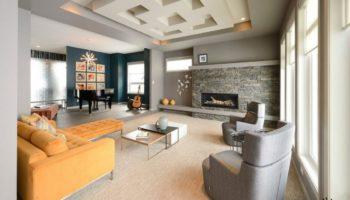 Дизайн зала вчастном доме: 60 фото-примеров удачных решений