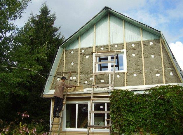 Утепляем фасад дома пенопластом