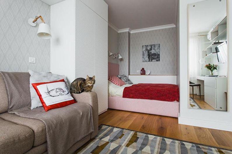 Топ идей интерьера для однокомнатной квартиры от школы дизайна