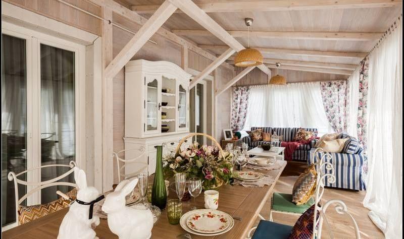 Райский уголок – балкон и веранда в стиле кантри